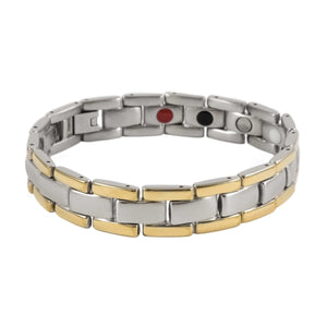 Stainless Steel Ion Gold Tone Link Bracelet - Karma and Luck | Buy Online