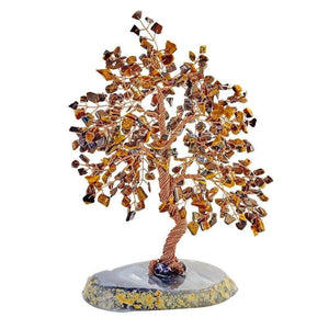 Tiger Eye Copper Tree on Geo Base   10""