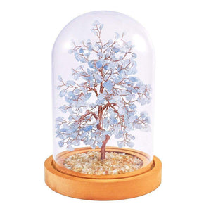 Aquamarine Copper Tree with Glass Cover 8""