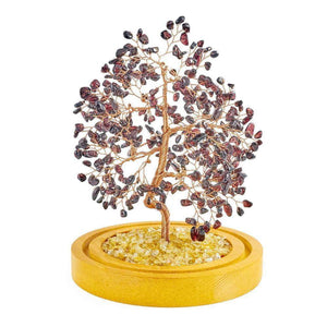 Garnet Copper Tree with Glass Cover 8""