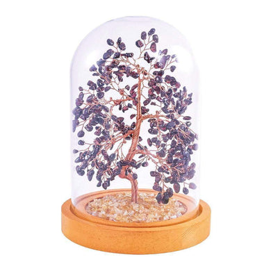 Garnet Copper Tree with Glass Cover 8
