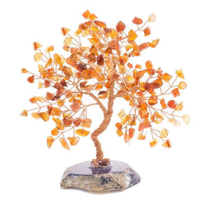 Carnelian Copper Tree on Geo Base  8""