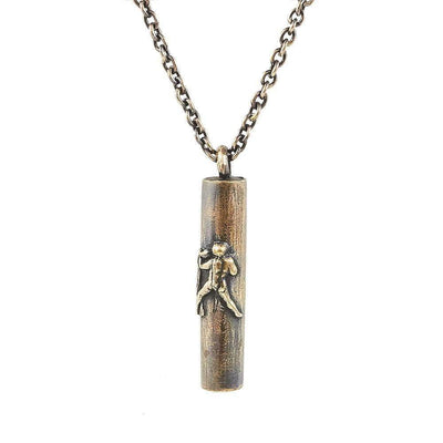 Antique Bronze Handmade Aquarius Tube Necklace - Karma and Luck | Buy Online