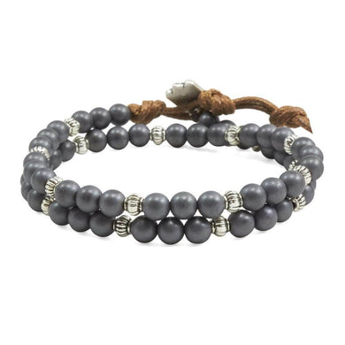 Matt Grey Hematite Double Wrap