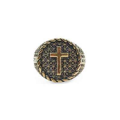 Antique Bronze Cross Ring - Karma and Luck | Buy Online