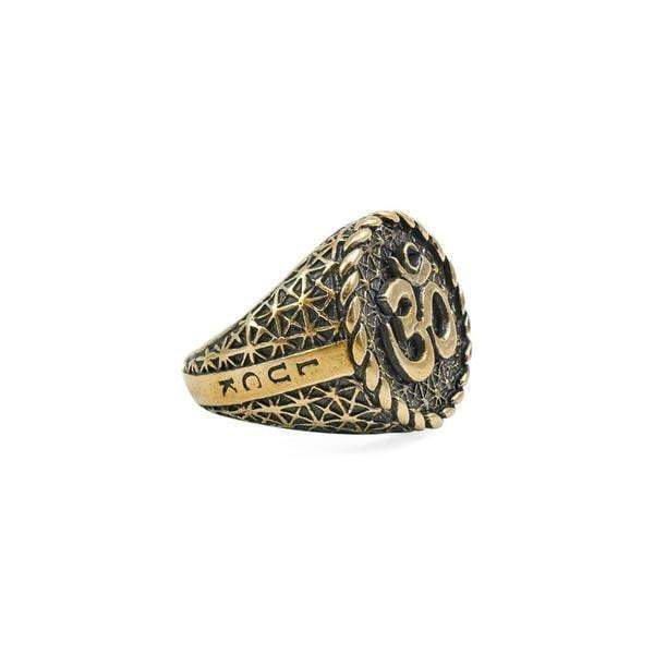 Antique Bronze Om Ring - Karma and Luck | Buy Online