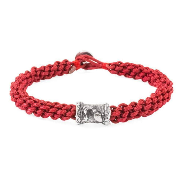 Zodiac Aquarius Red Macrame Bracelet