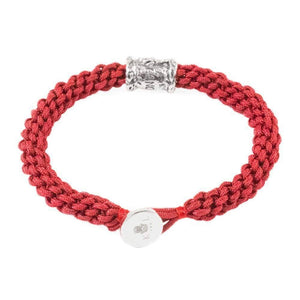 Zodiac Cancer Red Macrame Bracelet