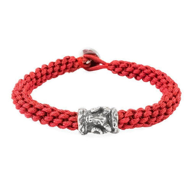 Zodiac Aries Red Macrame Bracelet