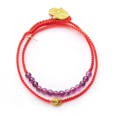 Peace of Spirit Amethyst Wrap Bracelet - Karma and Luck | Buy Online