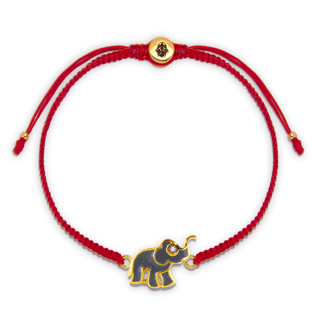 Wise Future Red String Elephant Charm Bracelet - Karma and Luck | Buy Online