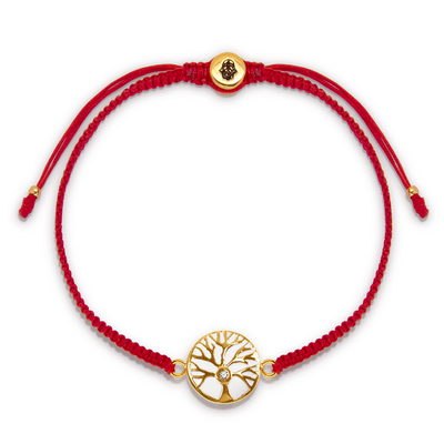 Branching Destiny Red String Diamond Chip Bracelet - Karma and Luck | Buy Online