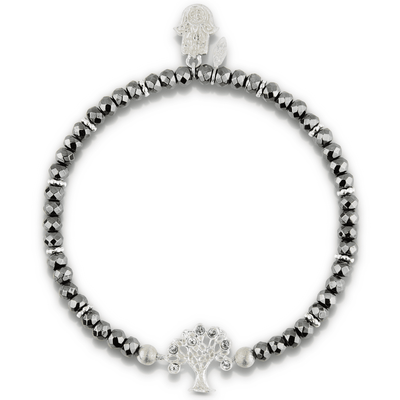 Broad Horizon Hamsa Hand Silver Bracelett - Karma and Luck | Buy Online