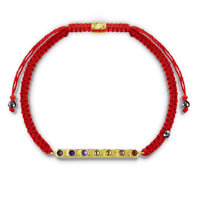 Peace Within Red String Macrame Bracelet - Karma e sorte | Compre online