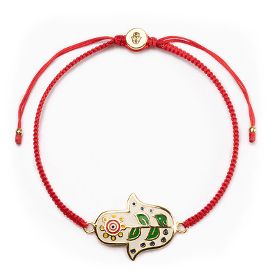 Cheerful Dreams Red Macrame Bracelet - Karma and Luck | Buy Online