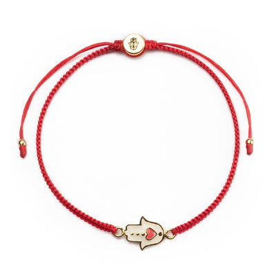 Expression of Love Red String Hamsa Heart Bracelet