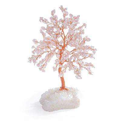 Rose Quartz Feng Shui Pink Money Tree-Karma und Luck | Online kaufen