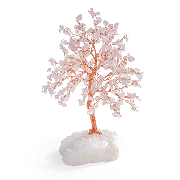 Rose Quartz Feng Shui Pink Money Tree - Karma and Luck | Buy Online