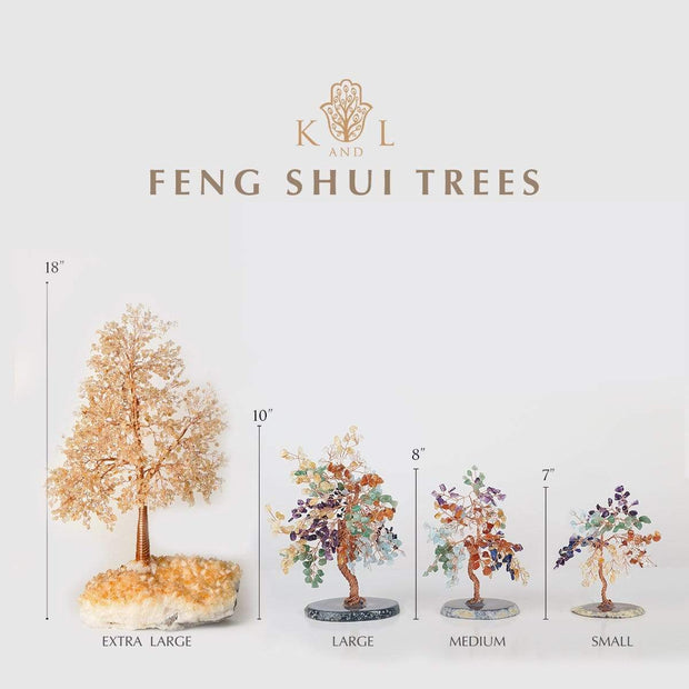 The Rainbow Keeper Multi-Stone Feng Shui Tree