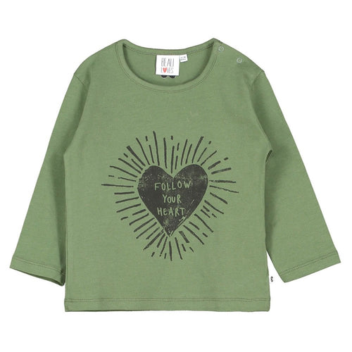 [BEAU LOVES] Baby Long Sleeved T Shirt - Moss