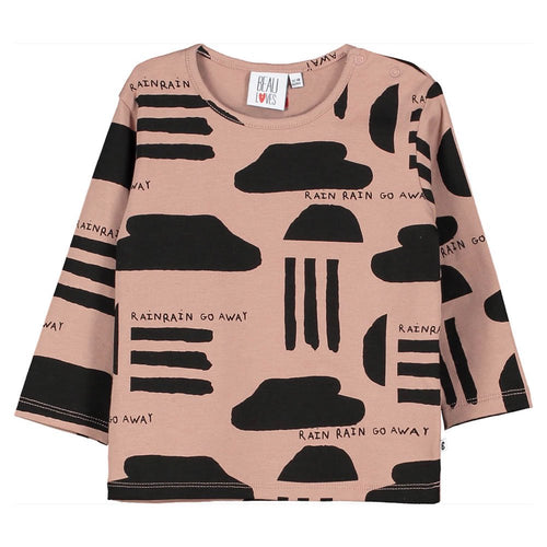 [BEAU LOVES] Baby Long Sleeved T Shirt - Redwood Washed