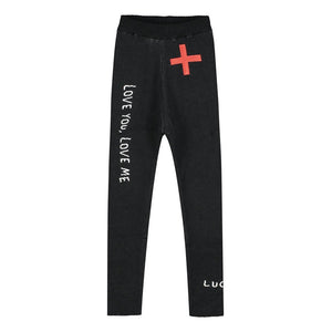 BEAU LOVES Slim Knit Pants - Black