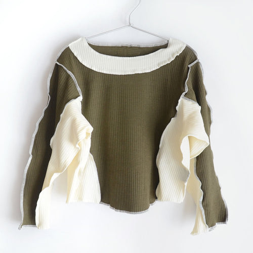 [GRIS] Rib Pullover / Moss (M)