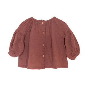 【yellowpelota】【2020AW】LILY BLOUSE - Cocoa