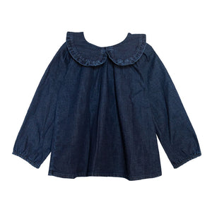 [yellowpelota] Iris Blouse - Denim