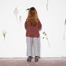 【yellowpelota】【2020AW】Lily Blouse - Cocoa (KIDS)