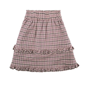 [the new society] BELLA SKIRT - CHECK LAVANDA