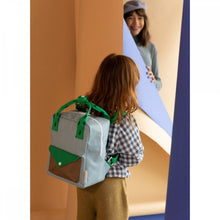 【sticky lemon】small backpack sprinkles | envelope | steel blue + apple green + brassy green