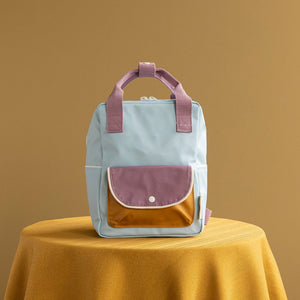【sticky lemon】small backpack wanderer | sky blue + pirate purple + caramel fudge