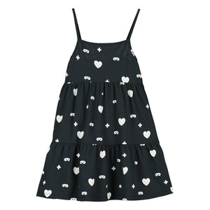[BEAU LOVES][21SS] Black Hearts + Masks Dress