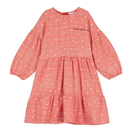 [BEAU LOVES][21SS] Red Grid Stella Dress