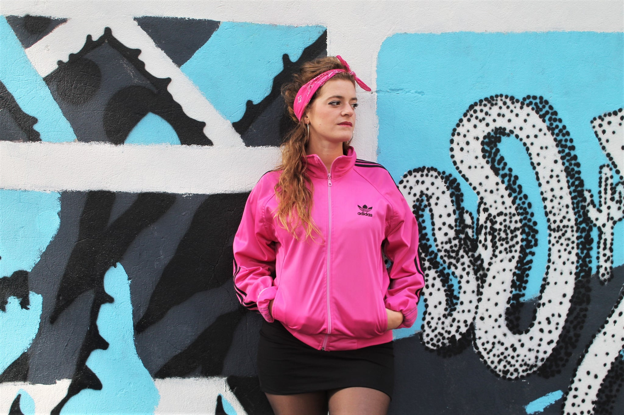 Friperie Quiche Zippé Rose Adidas – Sweat waXIqFff