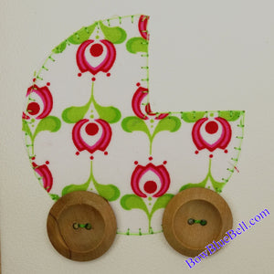 Applique, Machine Embroidery,Free Design, Baby Pram