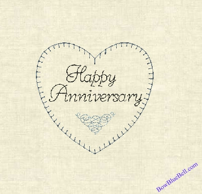 Anniversary Heart 5x5 Embroidery