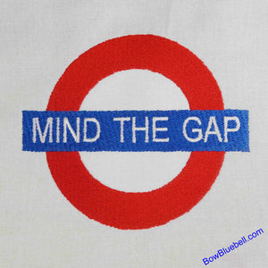 London - Mind the Gap between the Underground platform and the train, Machine Embroidery file