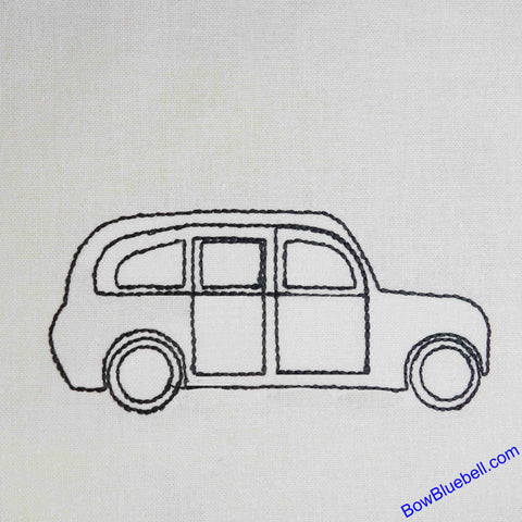 Machine Embroidery File - London Taxi Cab, available from BowBluebell