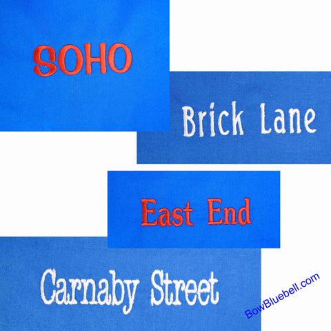 Machine Embroidery London Place names - Digital files for download