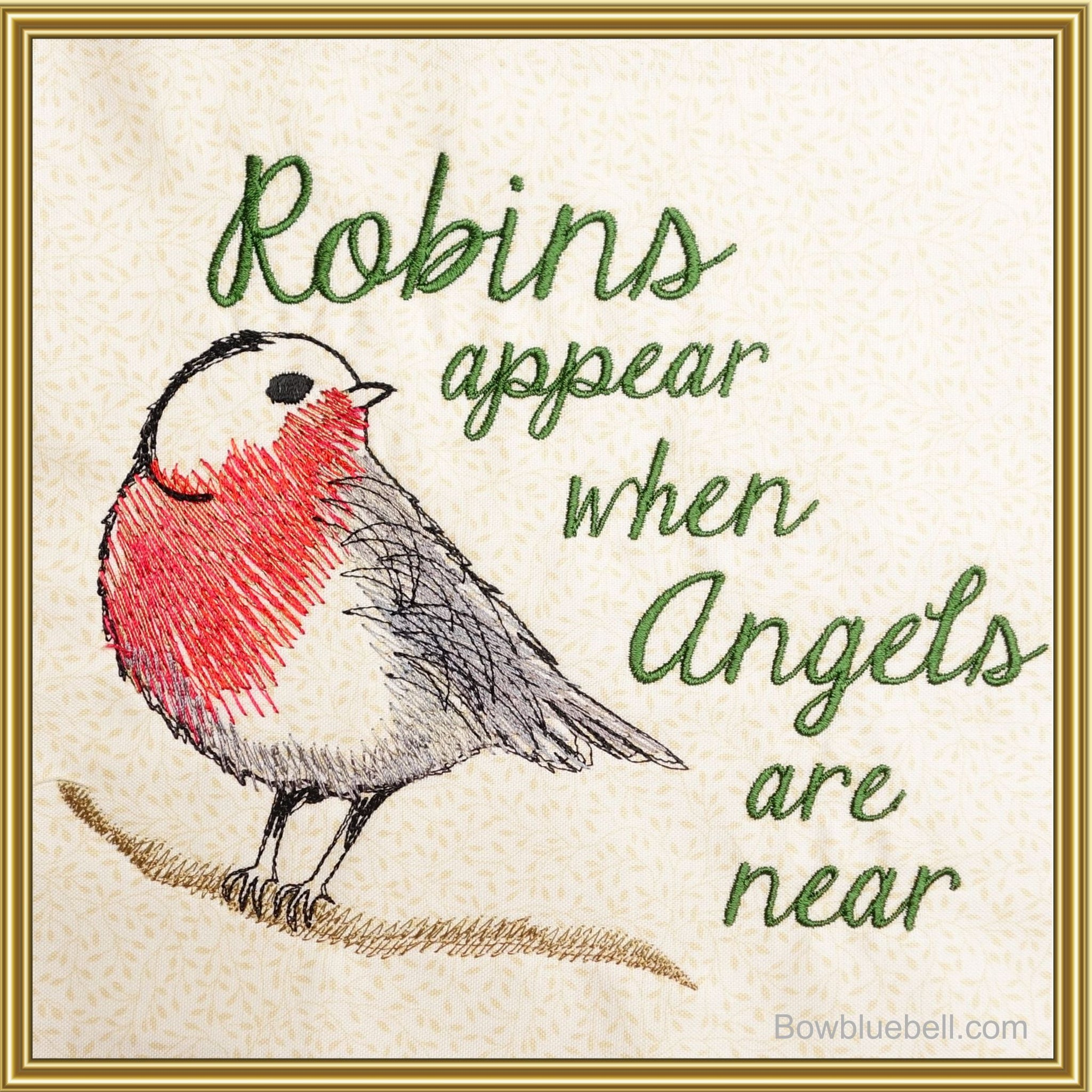 Robins Appear 7x6 Embroidery