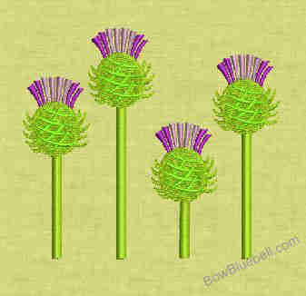 4 Thistle 4x4 Embroidery