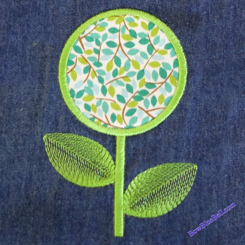 Festival Applique Flower  4x4 Embroidery