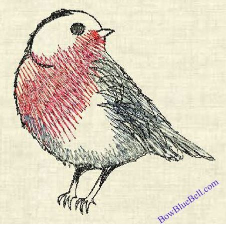 Robin 4x4 Embroidery