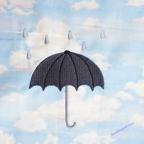 MAchine Embroidery London Brolly Raining