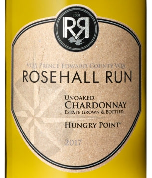 Rosehall Run Unoaked Chardonnay Hungry Point (2017)