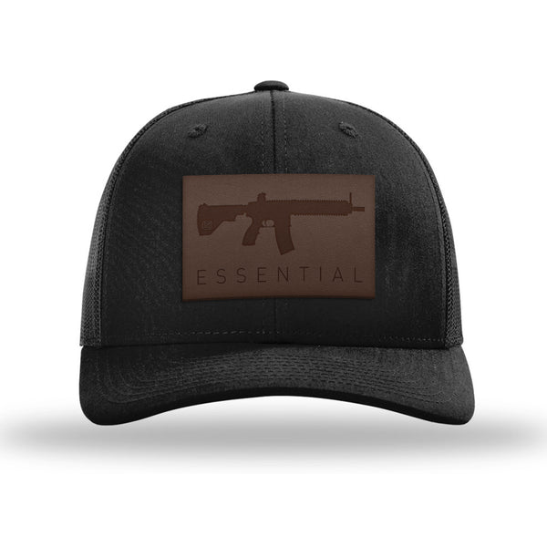 AR-15's Are Essential Leather Patch Trucker Hat
