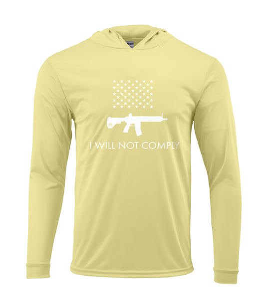 I Will Not Comply Performance Hoodie