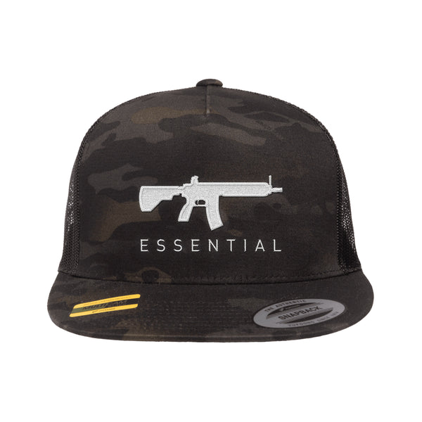 AR-15s Are Essential Trucker Hat Tactical Black MultiCam Snapback